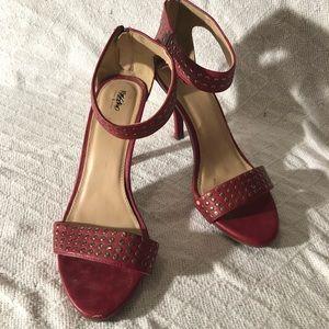 EUC Mossimo Red Studded Heels